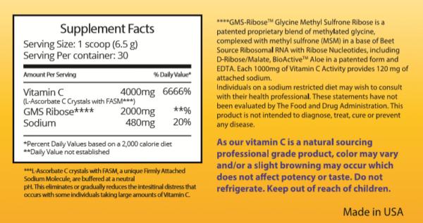 bioactive c supplement facts